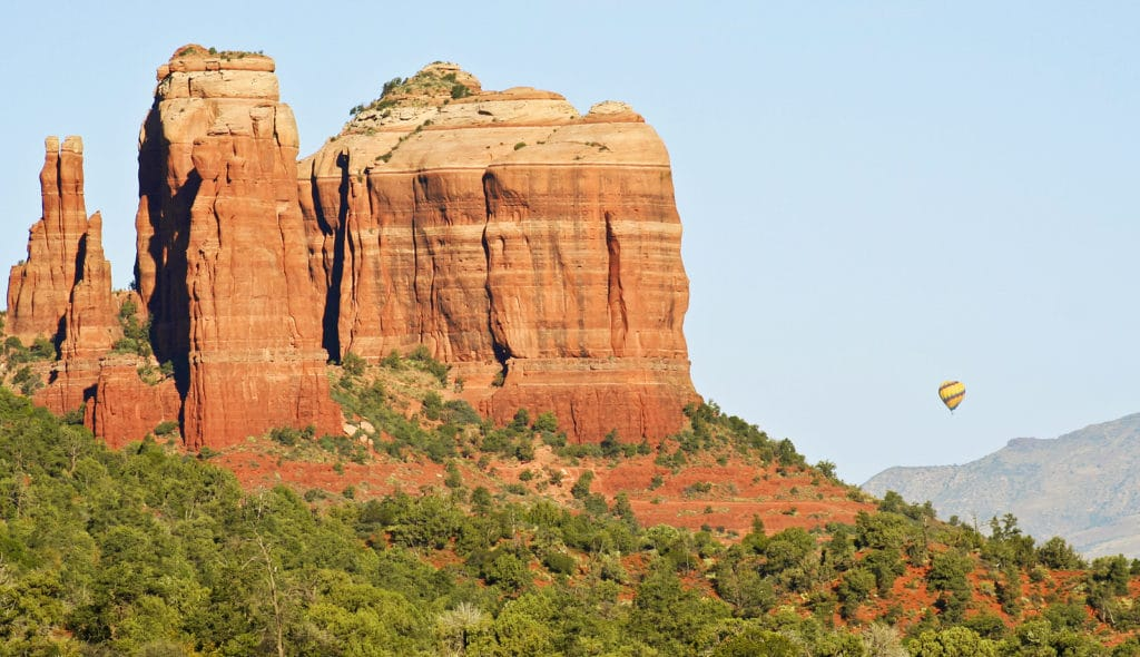 Take a Sedona hot air balloon ride this winter